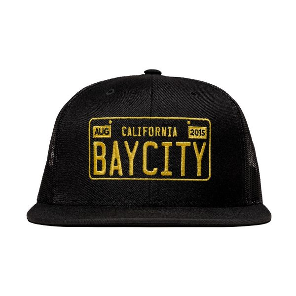 Bay-City-CaliLicensePlate-Hat-Front